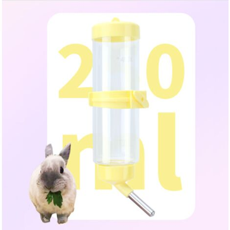Pet Water Rubber Rabbit Water Bottle Automatic Rubber Pet Hamster Pig India Squirrel Chinchilla Water Bottle Rubbit Ball Drinker (Yellow) (250 ml)