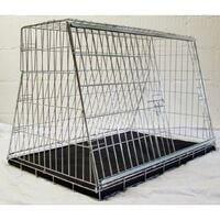"Pet World car dog cage travel safety guard hatchback 34"" -880(w)x580(h)x560(d)mm"