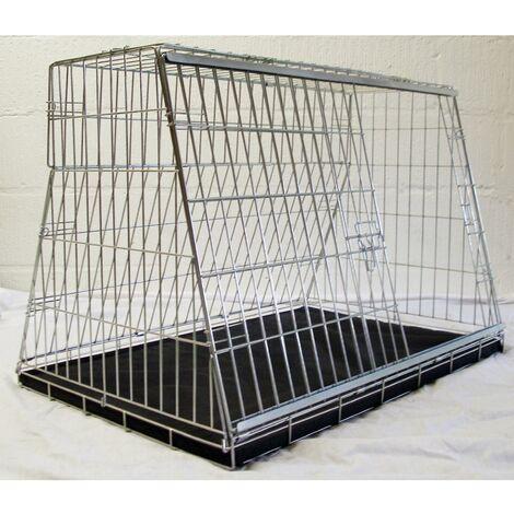 "main image of ""Pet World CDC34 Hatchback Car Dog Cage Crate Pet Travel Guard (86x56x58cm)"""