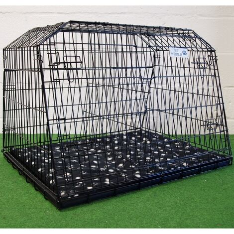 Pet World estate & 4x4 space saver sloping car dog puppy cage boot travel crate large - 960(w)x690(h)x775(d)mm