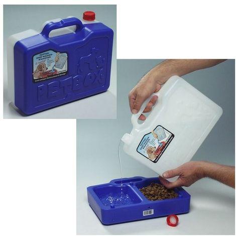 PetBox Voyage, kit réserve d'eau + gamelle double Désignation : PetBox PetBox 290151