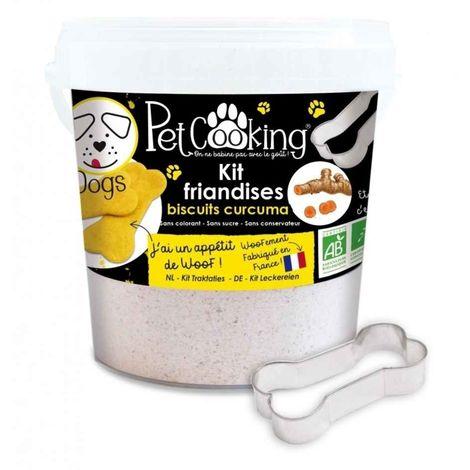 PetCooking - Kit Friandises Biscuits Curcuma pour Chien - 400g