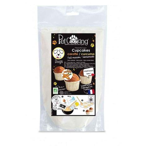 PetCooking - Préparation Cupcakes Carotte-Curcuma pour Chien - 200g
