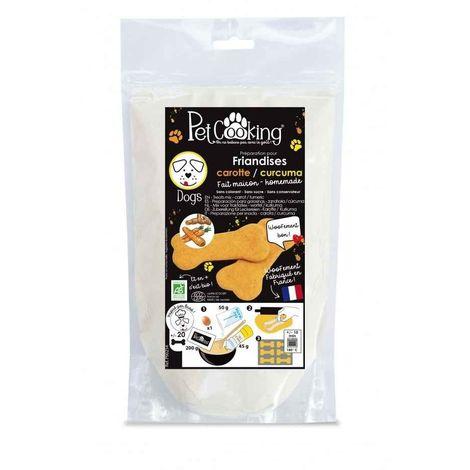 PetCooking - Préparation Friandises Biscuits Carotte-Curcuma pour Chien - 200g