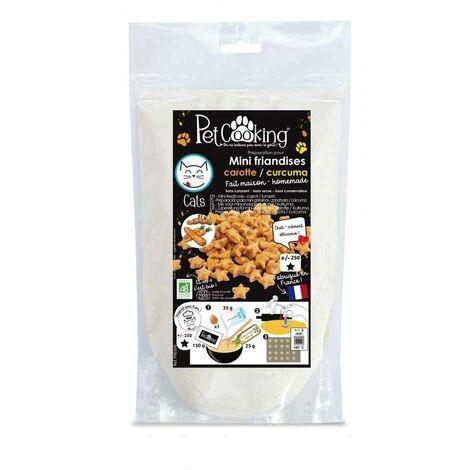 PetCooking - Préparation Mini-friandises Biscuits Carotte-Curcuma pour Chat - 150g