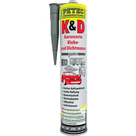 Petec K+D Karosserie Kleb- Dichtmasse, grau, 310ml ( Inh.6 Stück )