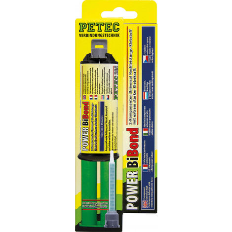 Petec Power Bibond 2 Komponenten Hochleistungsklebstoff 24ml