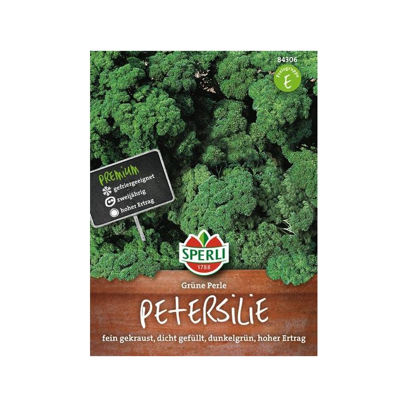 Petersilie Grüne Perle dichtgefüllt dunkelgrün feingekraust Samen