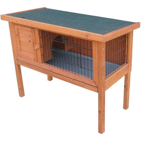 Petit animal cage lapin stable sapin bois imperméable feutre toit treillis portes Harms 509089