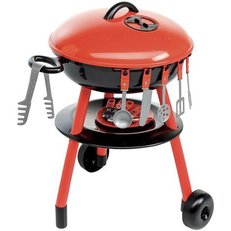 Petit barbecue charbon 50cm, junior – Romy – Barbecue en plastique, jouet avec accessoires