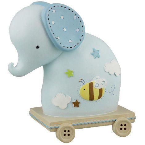 Petit Cheri Blue Elephant Money Box