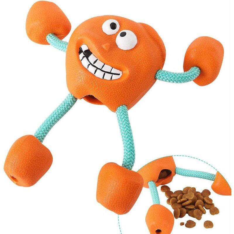 petit chien des jouets à mâcher avec Siffleur - Indestructible caoutchouc Treat Dispensing Jouets pour chiens, jouet interactif pour chiens