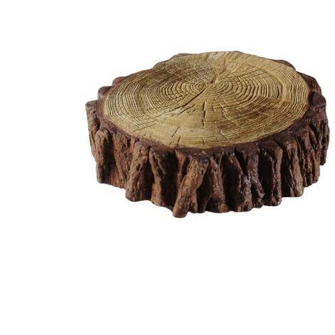 Petit coffre - bois effet béton décoratif dalle pavé pour jardin et terrasse
