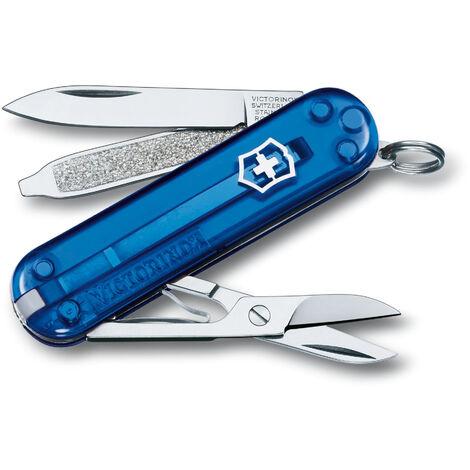 Petit couteau Victorinox Classic SD, avec 7 fonctions, avec ciseaux et lime à ongles avec tournevis, différentes couleurs au choix.