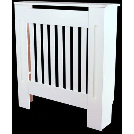 Petit couvercle de radiateur Armoire murale peinte en blanc Bois MDF Couvercles de chauffage étagère - Différentes couleurs