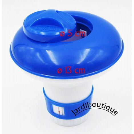 Petit doseur diffuseur de chlore ou brome 13 cm, flottant en plastique pour petite pastille