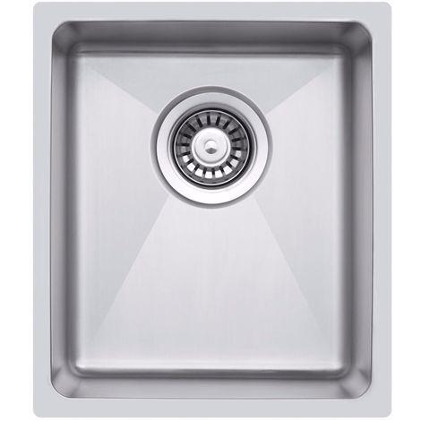Petit évier de cuisine inox sous plan 1 bac (LA016) cuve simple