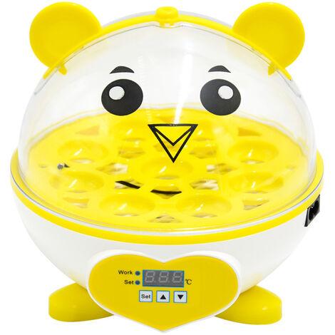 Petit incubateur, poulet, canard, oiseau, incubateur de caille, incubateur de recherche scientifique et d'enseignement pour enfants, 9 pieces, EU 220V
