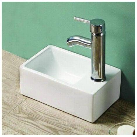 petit lave main gain de place droite c ramique 30x20. Black Bedroom Furniture Sets. Home Design Ideas