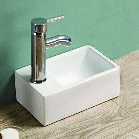 petit lave main gain de place gauche c ramique 30x20. Black Bedroom Furniture Sets. Home Design Ideas