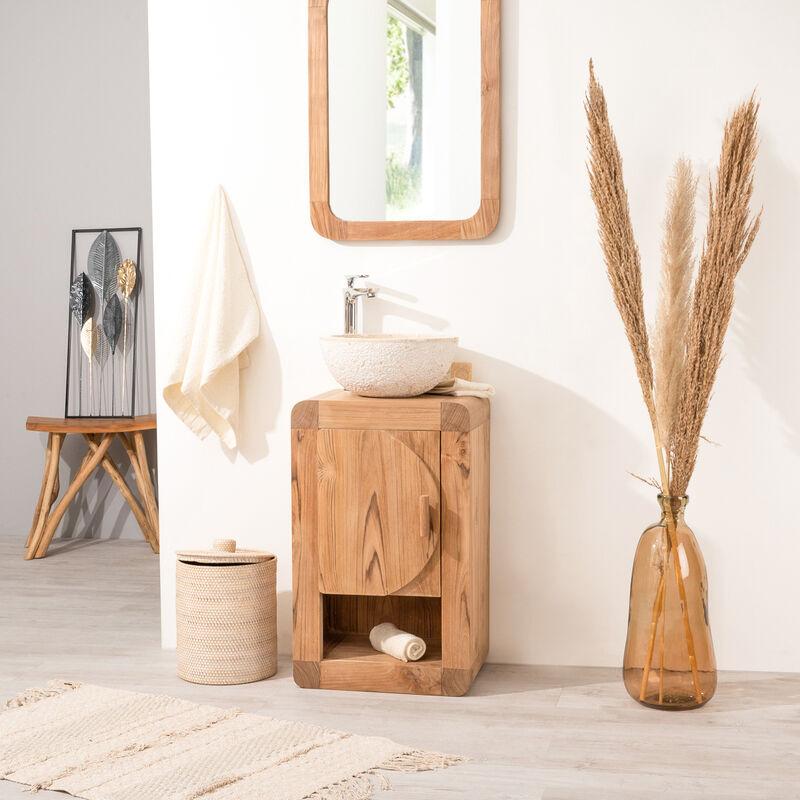 Petit Meuble de salle de bain ou WC 44cm en teck massif - 657_48