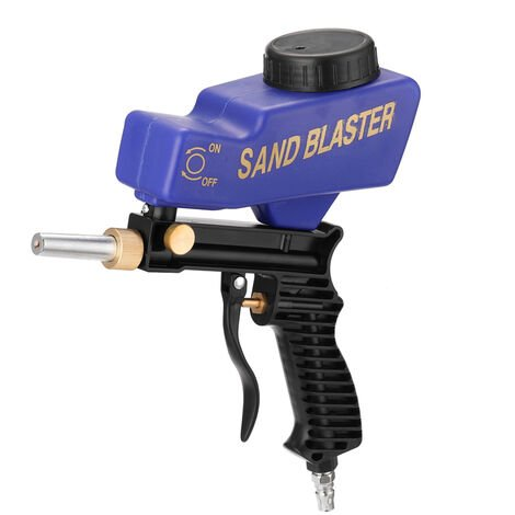 Petit pistolet de sablage pneumatique portable Pistolet agravite portable bleu