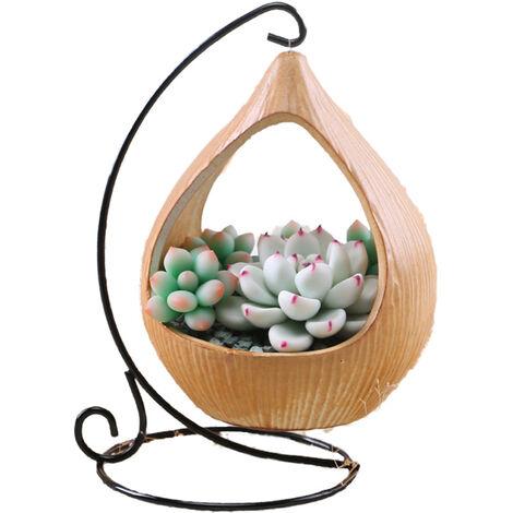 Petit pot de fleur suspendu-pot de fleur-utilisation intérieure et extérieure-décoration murale panier suspendu en fer (gouttes d'eau)
