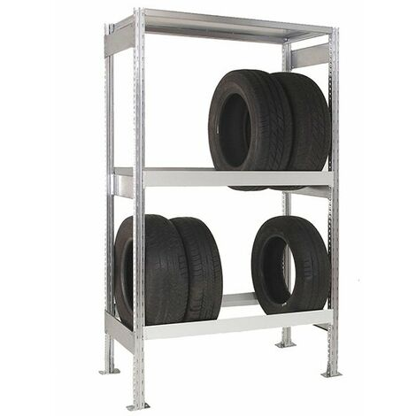 Petit rack à pneu 3 niveaux : Hauteur 2000 - Profondeur 400mm (plusieurs tailles disponibles)