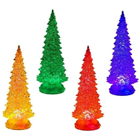 Petit sapin de Noël lumineux x4