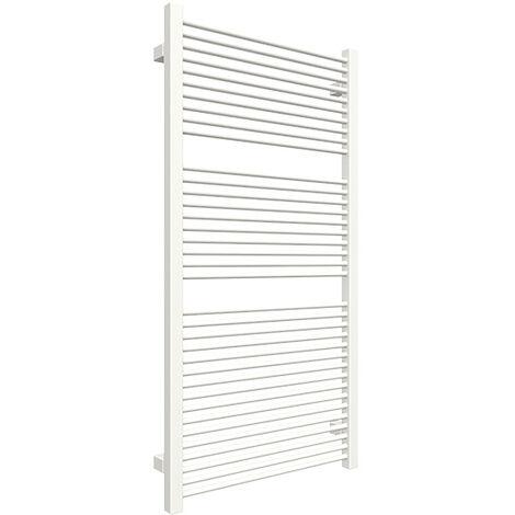 Petit sèche-serviette blanc chauffage central - Raccordement aux extrémités - Mike/435/SXB (plusieurs tailles disponibles)