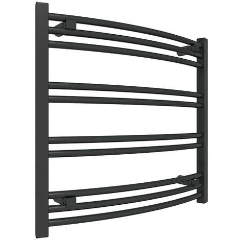 Petit sèche-serviette électrique noir - Raccordement à gauche - Jade/E1N (plusieurs tailles disponibles)