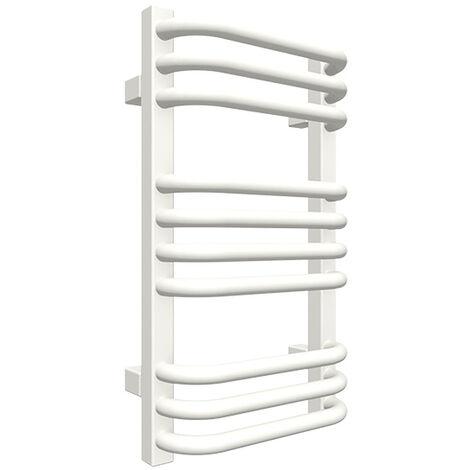 Petit sèche-serviette mixte blanc - Raccordement au centre et à gauche - Alex/Z1B (plusieurs tailles disponibles)