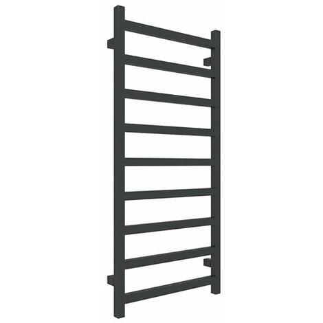 Petit sèche-serviette noir chauffage central - Raccordement au centre - Simple/ZXN (plusieurs tailles disponibles)