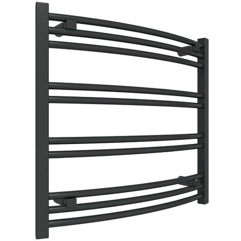 Petit sèche-serviette noir chauffage central - Raccordement aux extrémités - Jade/SXN (plusieurs tailles disponibles)