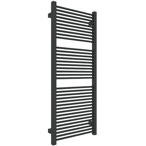 Petit sèche-serviette noir chauffage central - Raccordement aux extrémités - Mike/435/SXN (plusieurs tailles disponibles)