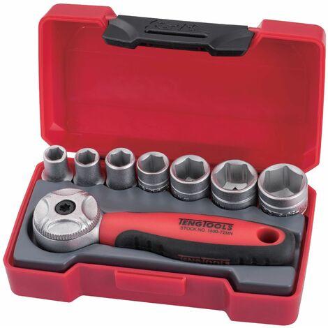Petit set de douilles 1/4'' - 8 pièces Teng Tools T1408