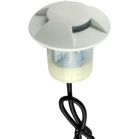 Petit Spot 0,75W LED Blanc Encastrable 3 Directions - Blanc du Jour 6000K