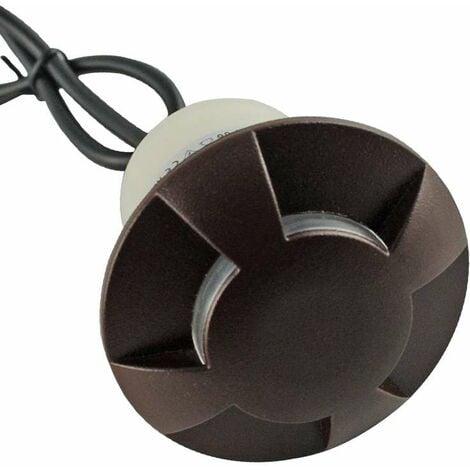 Petit Spot 0,75W LED Encastrable Noir 4 Directions - Blanc du Jour 6000K