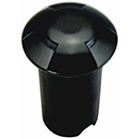 Petit Spot 0,75W LED Noir Encastrable 3 Directions - Blanc Chaud 2700K