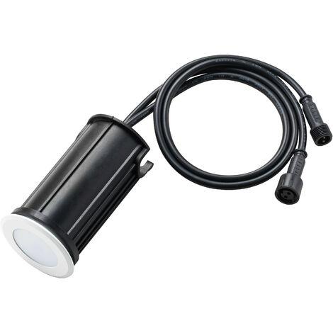 """main image of """"Petit Spot Encastrable 1,5W LED Tour Blanc Étanche IP67 - Lumière Bleu"""""""