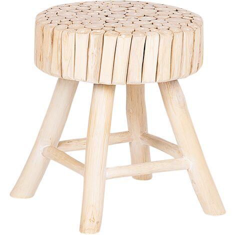 Petit tabouret en bois clair NAMPA