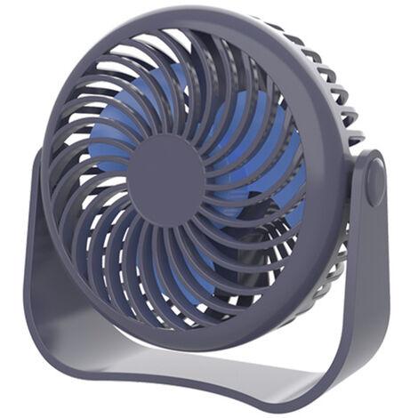 Petit ventilateur de bureau de dortoir ¨¦tudiant, ventilateur de batterie int¨¦gr¨¦ portable