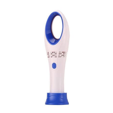 Petit Ventilateur, Mini Sechoir A Cils, Sans Lame, Blanc Bleu
