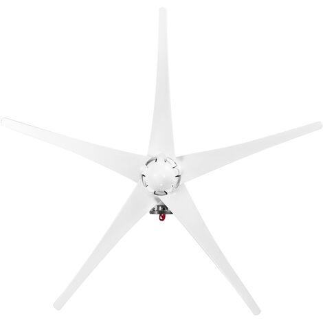 Petite eolienne avec controleur, energie propre S-type-12V 5 pales, maximum 1200W (blanc)