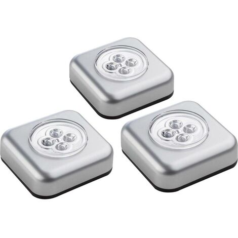 Petite lampe mobile jeu de 3 Müller Licht 400136 argent