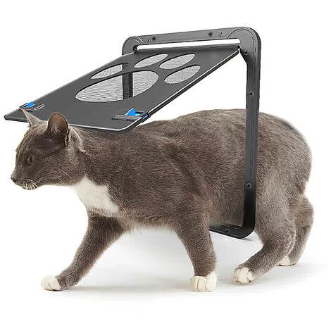 Petite porte moustiquaire pour chat avec empreinte de patte