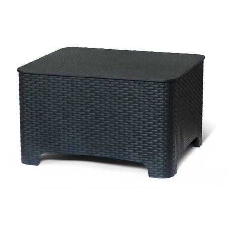 Petite table boîte de stockage pour les coussins de jardin et extérieur bars RAFFAELLO