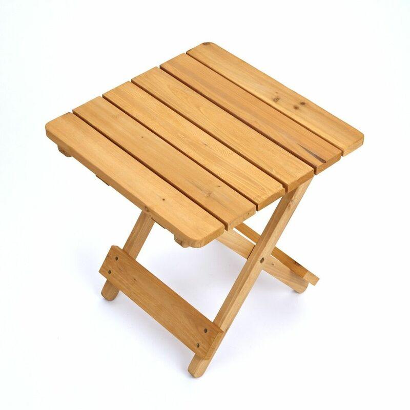 Table D'appoint D'extérieur Petite Résistant Pliable Bois En TuPZiOkX