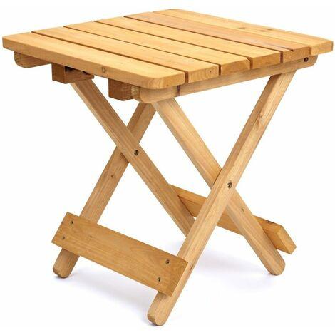 Petite table d'appoint d'extérieur pliable en bois résistant