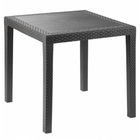 Petite table de jardin - Salon de jardin - 80 x 80 cm - Livraison gratuite